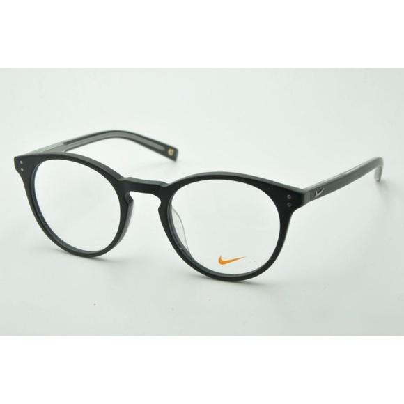 Nike Eyeglasses NK 36KD 001 Round Black Frames